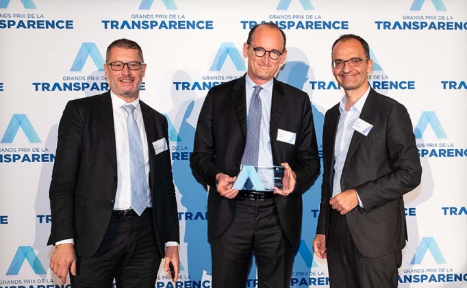 <span>L'Oréal receives the 2019 Transparency Grand Prix All Categories</span>