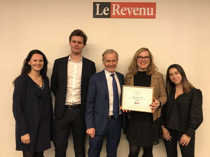 <span>L'Oréal reçoit le Trophée d'Or 2019 de la Meilleure Communication Numérique du CAC 40 décerné par Le Revenu </span>